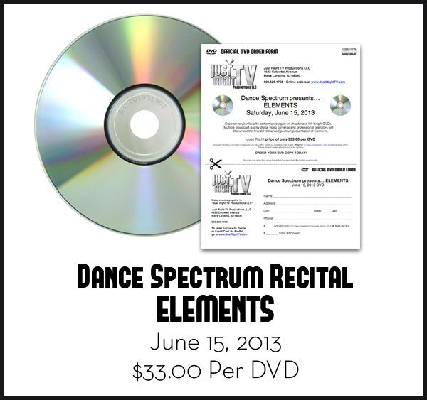 "Dance Spectrum Recital ""ELEMENTS"" DVD 2013"