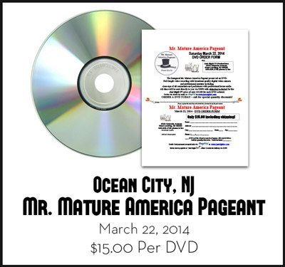 Ocean City, NJ Mr. Mature America Pageant DVD