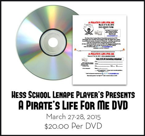 Hess School Lenape Player's Presents A Pirate's Life For Me