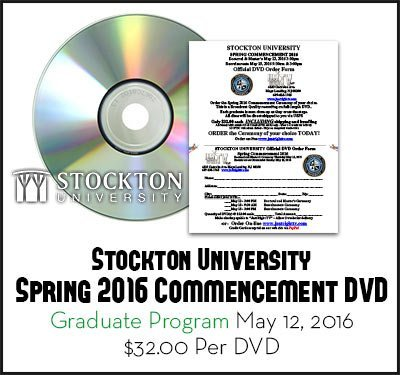 2016 Stockton University Graduation Graduate Program Order Form