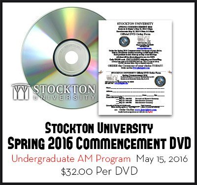 2016 Stockton University Graduation Undergraduate Program AM Order Form