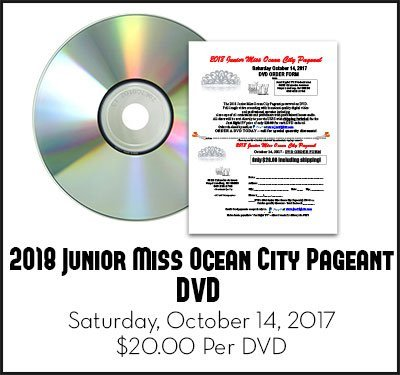 2018 Junior Miss Ocean City Pageant DVD Saturday, October 14, 2017 DVD by Just Right TV Productions