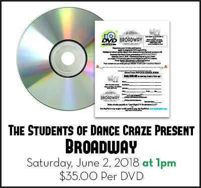 Carla Bellucci and the Students of Dance Craze Present Broadway at 1pm