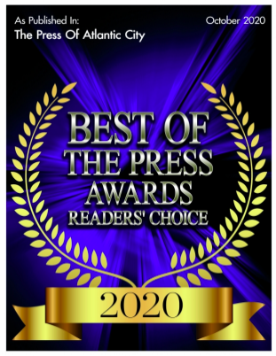Winner of Best of the Press Readers' Choice, Best Videography Studio - The Press of Atlantic City - Oct 2020