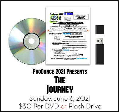 ProDance 2021 Dance Recital DVD Flashdrive in NJ by Just Right TV Productions