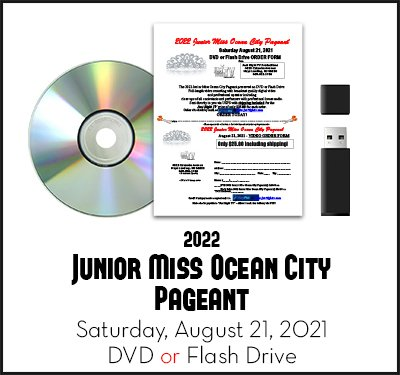 2022 Junior Miss Ocean City Pageant Recording Video DVD Flashdrive